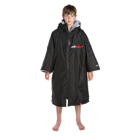 Dryrobe Advance Kids Short Sleeve - Black & Grey