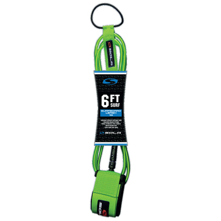 Sola 6ft Surfboard Leash - Green