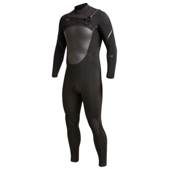 Xcel 5/4 mm Axis X Chest Zip Wetsuit - Black