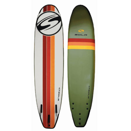 Sola Soft Surfboard - Khaki/Orange