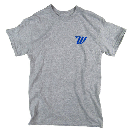 Woodies - Mens - Grey & Blue T-Shirt
