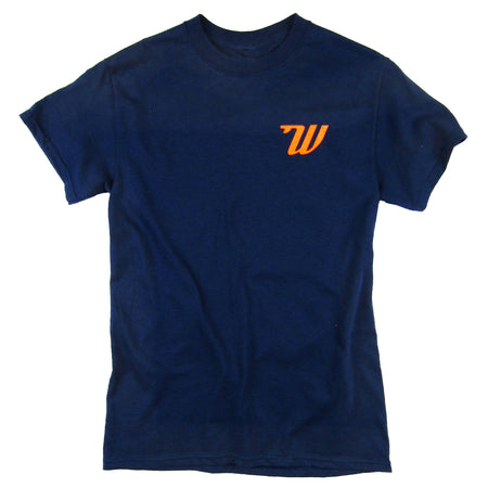Woodies - Mens - Navy & Orange T-Shirt