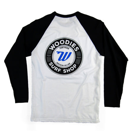 Woodies - Mens - White & Black Long Sleeve