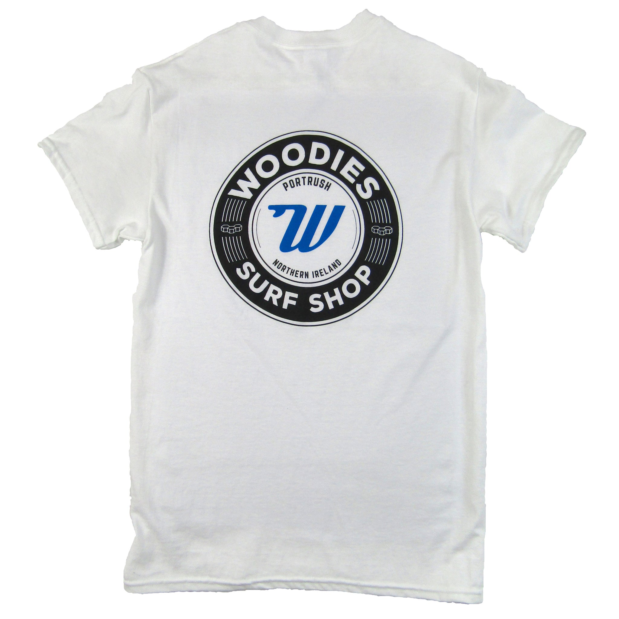 Woodies - Mens - White & Blue T-Shirt