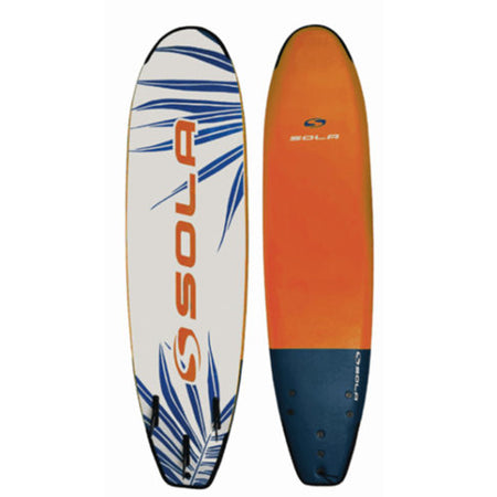 Sola Soft Surfboard - Navy/Orange