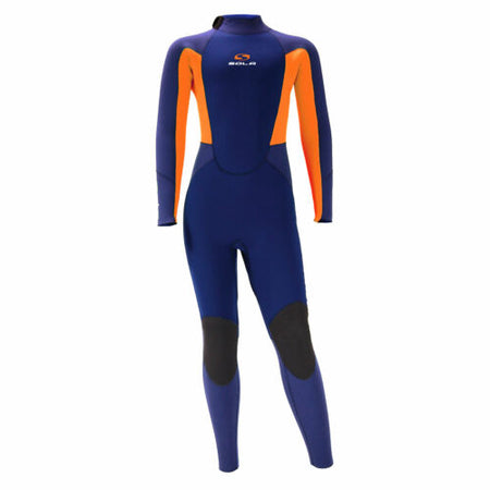Sola Kids Fire 5/4 Winter Wetsuit Blue/Orange