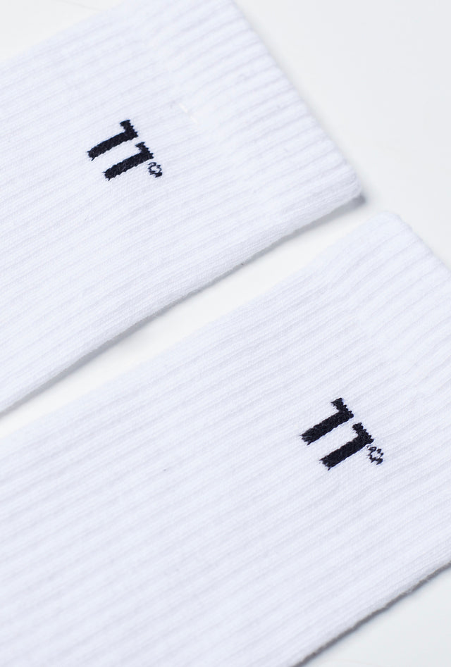 11 Degrees - Core Logo Crew Socks 3Darab - White