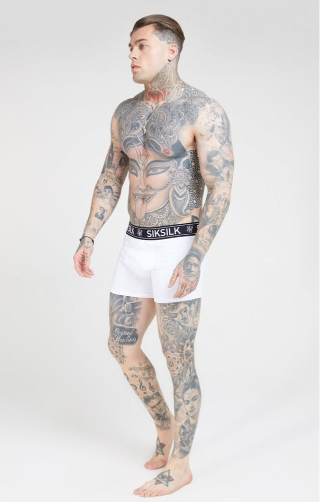 SikSilk Boxer Shorts (2 db) - White & Black