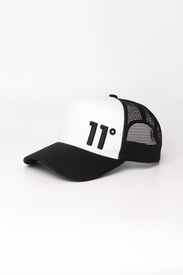 11 DEGREES - Trucker Cap - Black/White