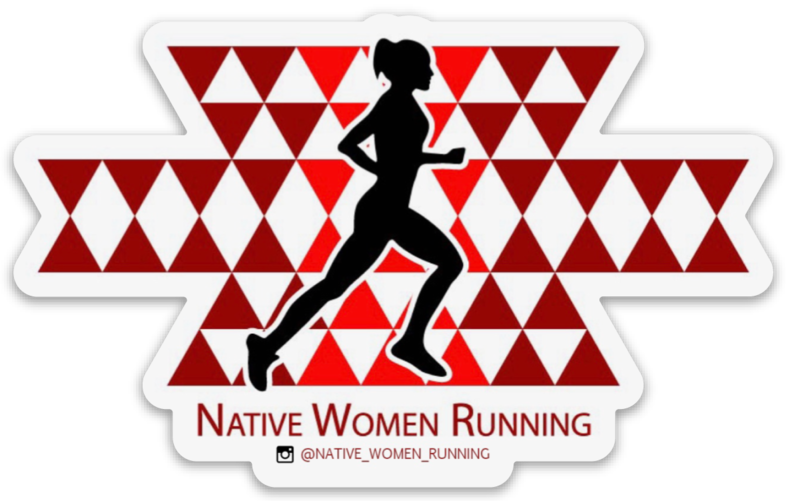 Native Women Running Sticker