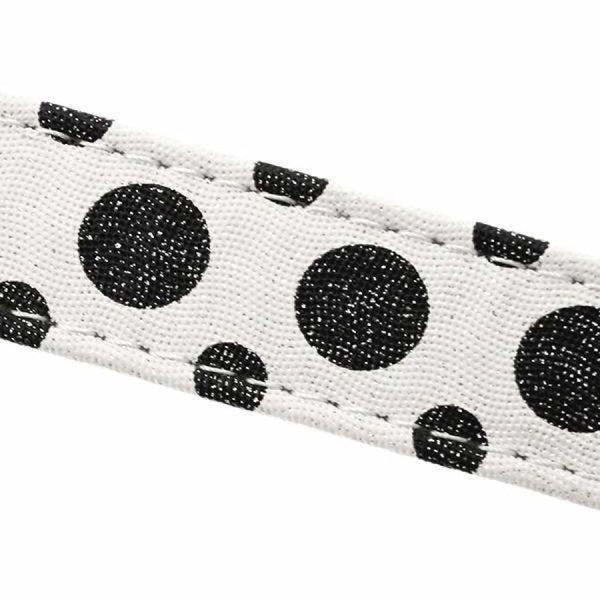 Black and White Polka Dot Glitter Dog Lead - Urban - 2