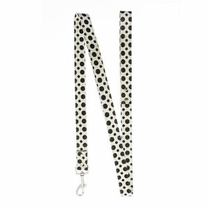 Black and White Polka Dot Glitter Dog Lead - Urban - 1