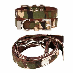 Camouflage Fabric Dog Collar And Lead Set - Urban - 1