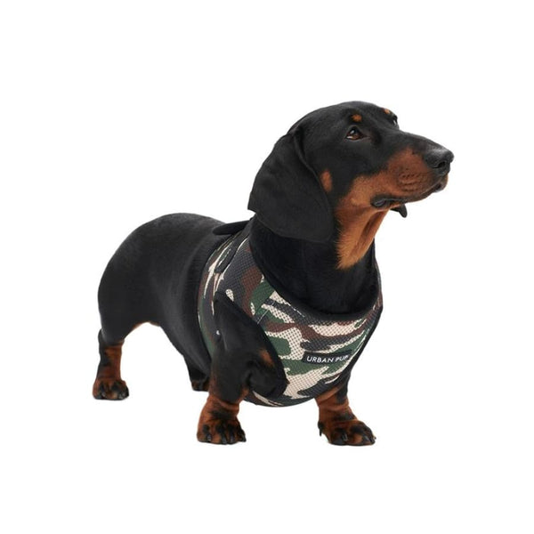 Camouflage Soft Mesh Vest Dog Harness - Urban - 2