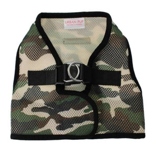 Camouflage Soft Mesh Vest Dog Harness - Urban - 1