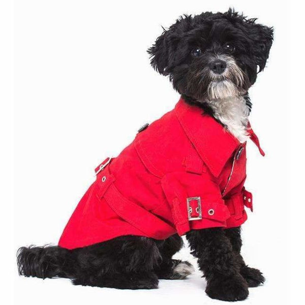 Classic Red Dog Trench Coat - Urban - 3
