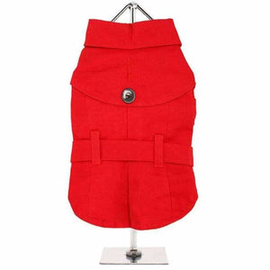 Classic Red Dog Trench Coat - Urban - 1