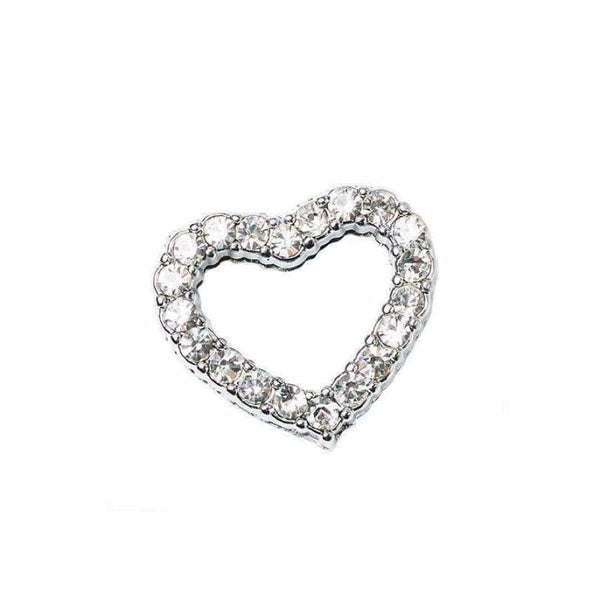 Crystal Heart 18mm Slider Collar Charm - Urban - 2