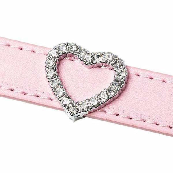 Crystal Heart 18mm Slider Collar Charm - Urban - 1
