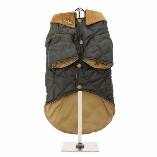 Forest Green Quilted Town And Country Dog Coat - Urban - 3