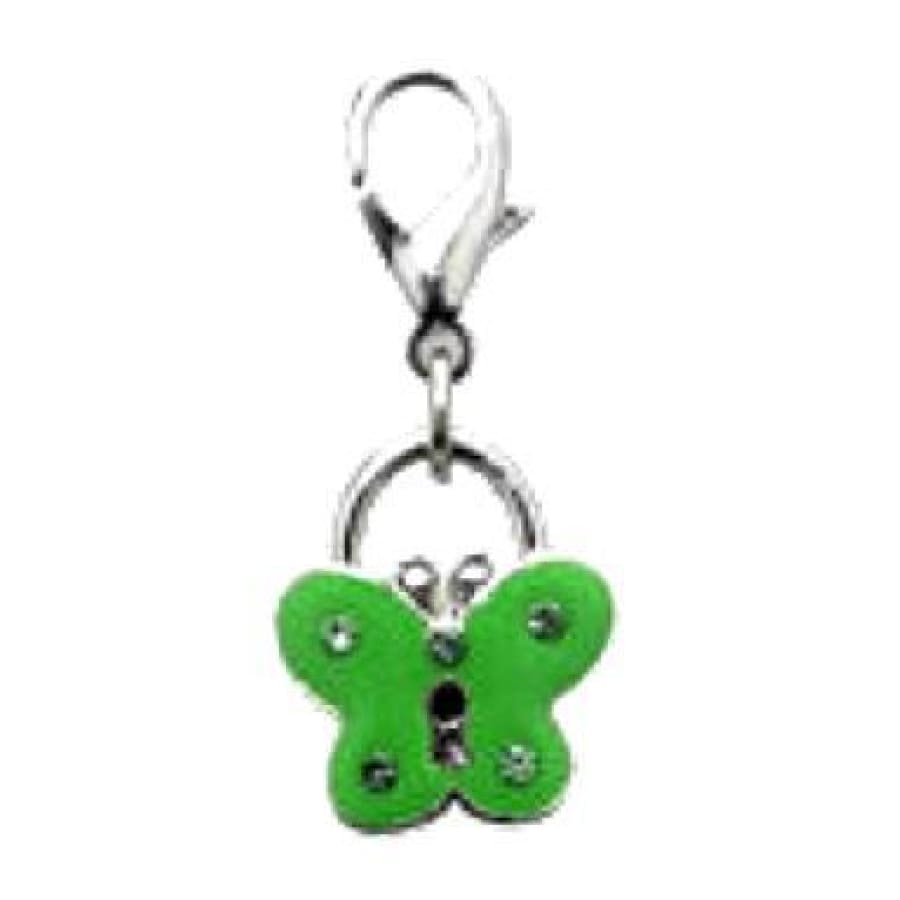 Green Butterfly Collar Charm - Sale - 1