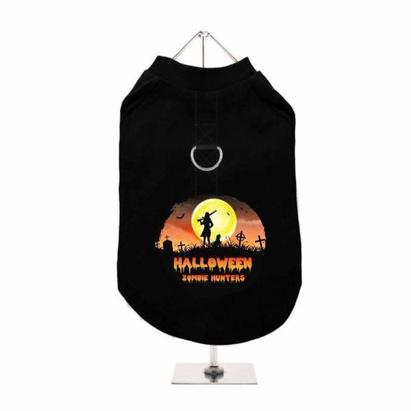 Halloween Zombie Hunters Harness Lined Dog T-Shirt - Urban - 1