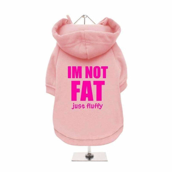 I'm Not Fat Just Fluffy Dog Hoodie Sweatshirt - Baby Pink - Urban - 1