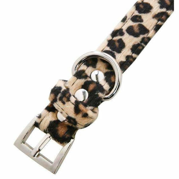 Leopard Print Fabric Dog Collar And Lead Set - Urban - 2
