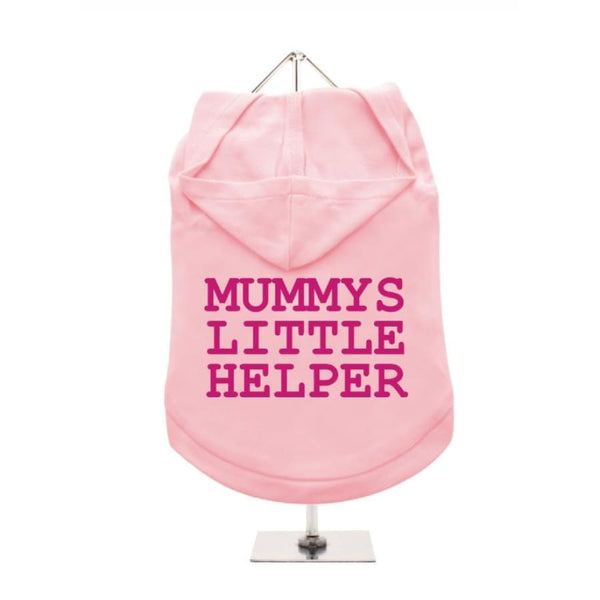 Mummys Little Helper Hooded Dog T-Shirt Baby Pink - Urban - 1
