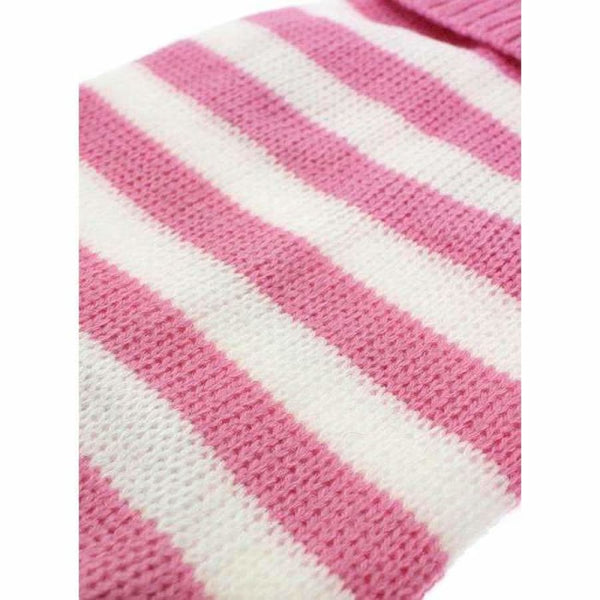 Pink and White Candy Stripe Dog Jumper - Urban - 3