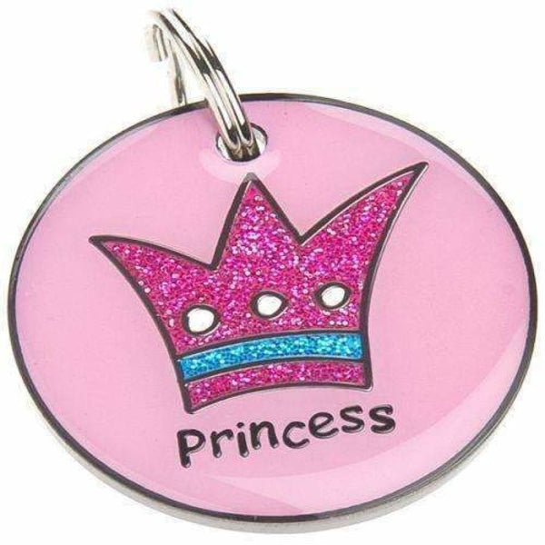 Princess Glitter Pet ID Tag - Posh Pawz - 1