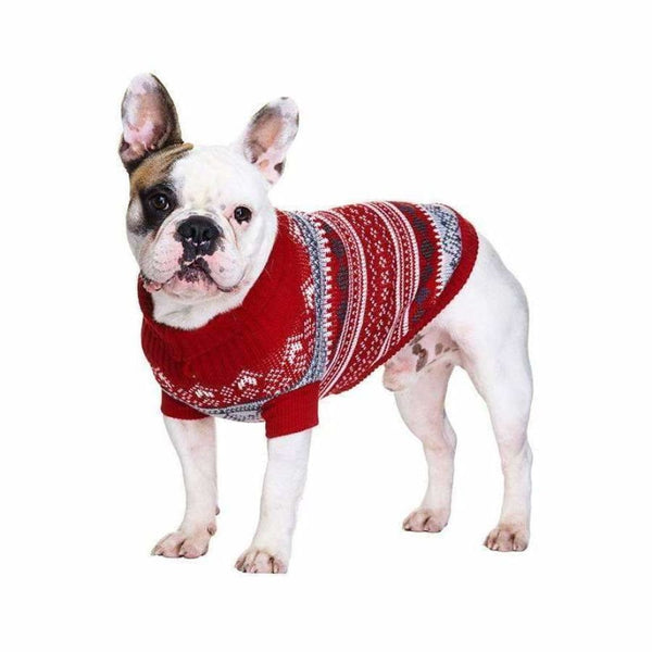 Red Fair Isle Vintage Dog Jumper - Urban - 3