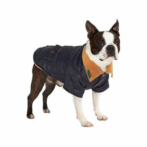 Urban Pup Blue Quilted Town And Country Dog Coat Medium - Sale - 1