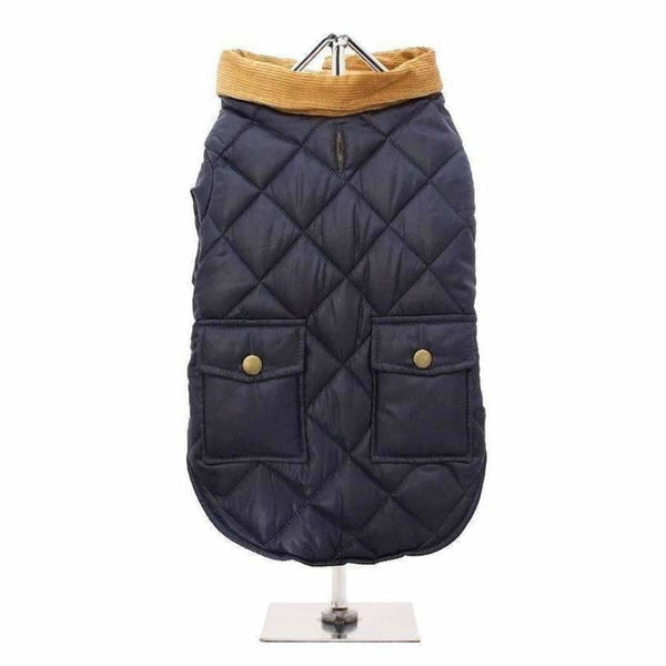 Urban Pup Blue Quilted Town And Country Dog Coat Medium - Sale - 2