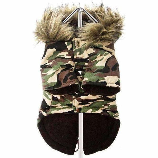 Urban Pup Camouflage Fish Tail Parka Dog Coat - Sale - 3