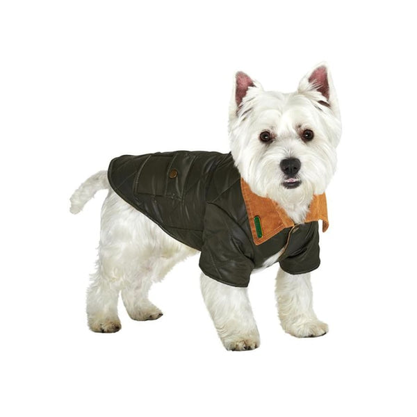 Urban Pup Forest Green Quilted Town And Country Dog Coat - Sale - 1