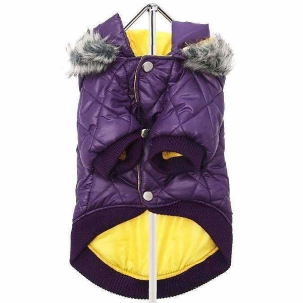 Urban Pup Purple Thermo Quilted Dog Parka Small - Sale - 3