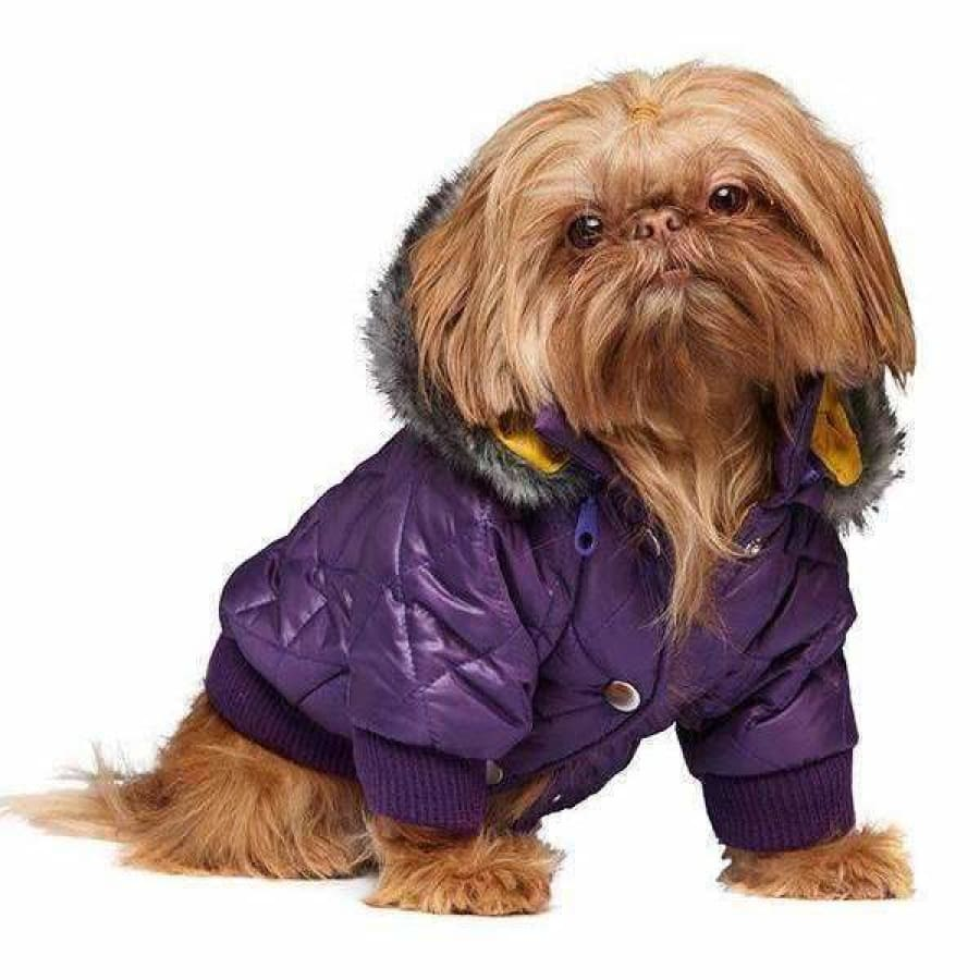Urban Pup Purple Thermo Quilted Dog Parka Small - Sale - 1