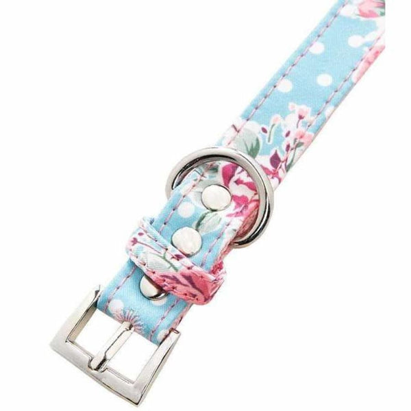 Vintage Rose Floral Fabric Dog Collar And Lead Set - Urban - 2
