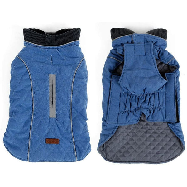 Weatherproof Quilted Bodywarmer Dog Coat In Blue - Posh Pawz - 2