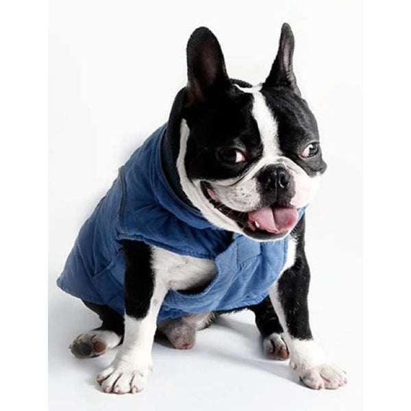 Weatherproof Quilted Bodywarmer Dog Coat In Blue - Posh Pawz - 3