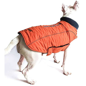 Weatherproof Quilted Bodywarmer Dog Coat In Orange - Posh Pawz - 1