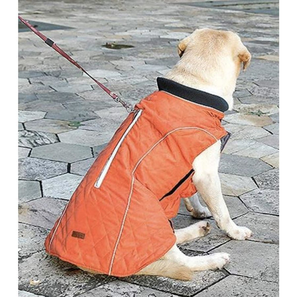 Weatherproof Quilted Bodywarmer Dog Coat In Orange - Posh Pawz - 4