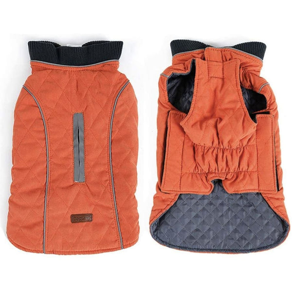 Weatherproof Quilted Bodywarmer Dog Coat In Orange - Posh Pawz - 2