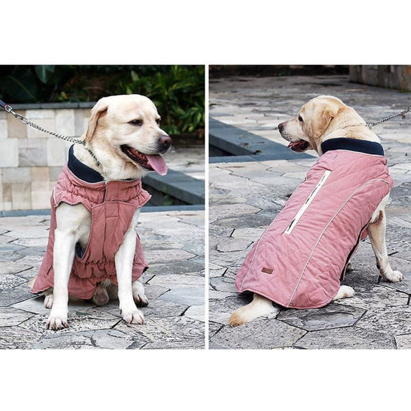 Weatherproof Quilted Bodywarmer Dog Coat In Pink - Posh Pawz - 3