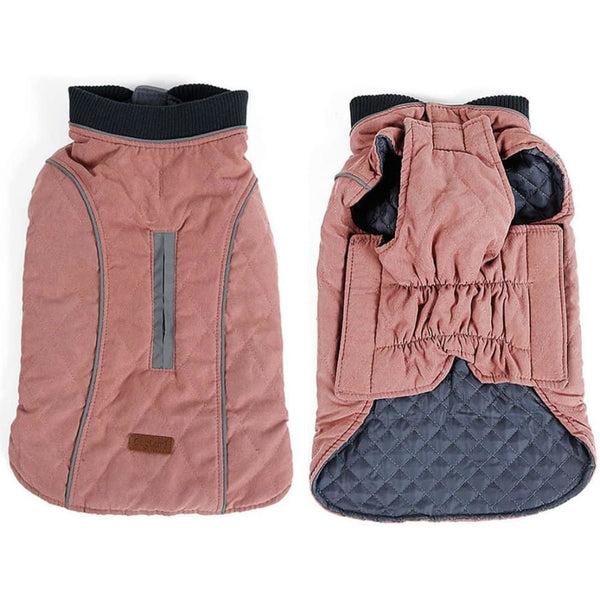 Weatherproof Quilted Bodywarmer Dog Coat In Pink - Posh Pawz - 2