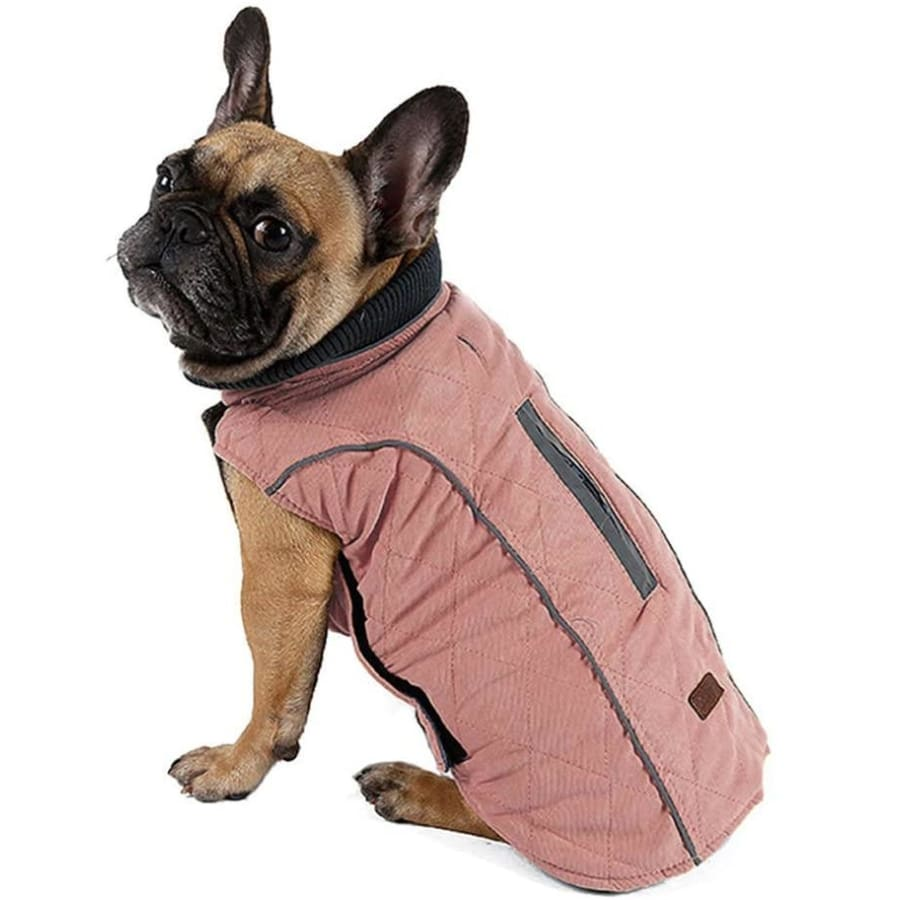 Weatherproof Quilted Bodywarmer Dog Coat In Pink - Posh Pawz - 1