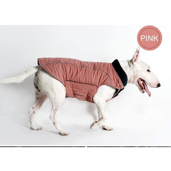 Weatherproof Quilted Bodywarmer Dog Coat In Pink - Posh Pawz - 4