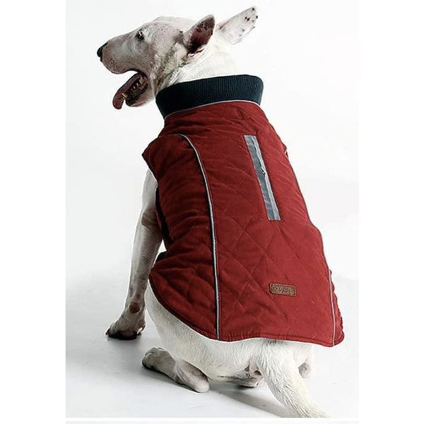Weatherproof Quilted Bodywarmer Dog Coat In Red - Posh Pawz - 3