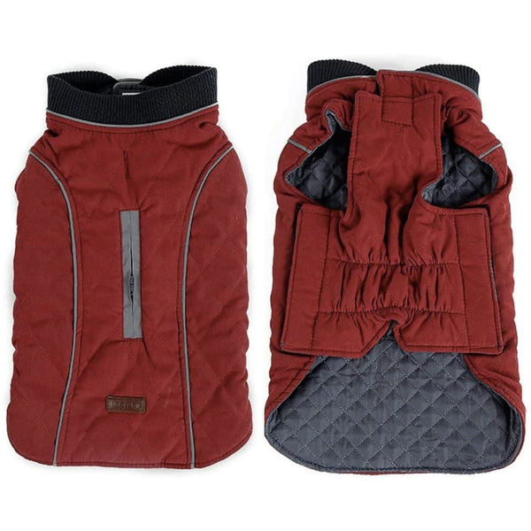 Weatherproof Quilted Bodywarmer Dog Coat In Red - Posh Pawz - 2